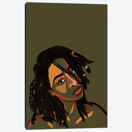 Black Hair Story- Locs Canvas Print #NRX40} by NoelleRx Canvas Wall Art
