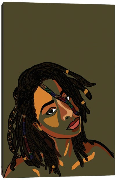 Black Hair Story- Locs Canvas Art Print