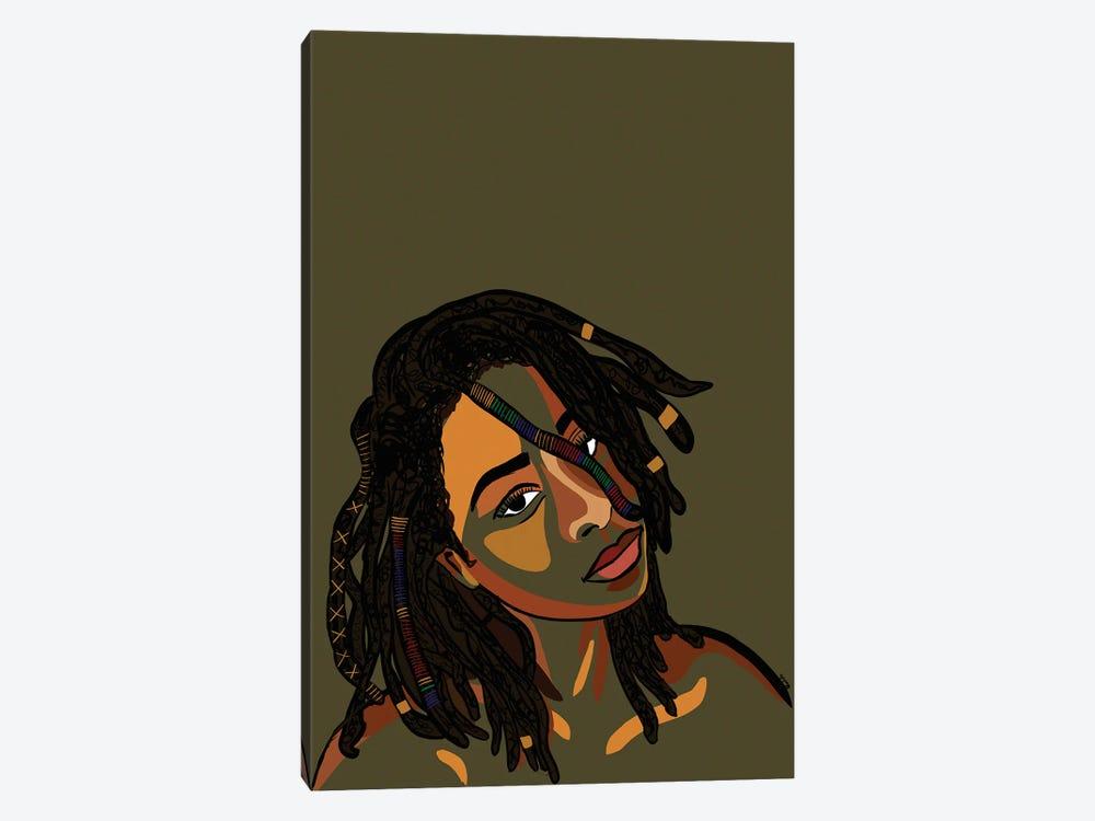 Black Hair Story- Locs by NoelleRx 1-piece Art Print