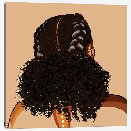 Black Hair Story-Low Puff Canvas Print #NRX41} by NoelleRx Canvas Artwork
