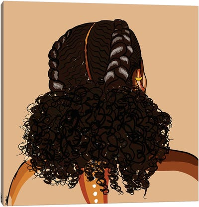Black Hair Story-Low Puff Canvas Art Print