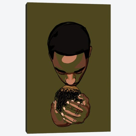 Daddy's Baby II - Green Canvas Print #NRX43} by NoelleRx Canvas Art