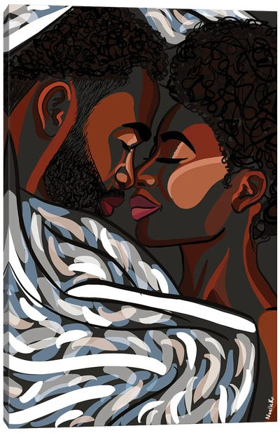Love In The Dark Canvas Art Print