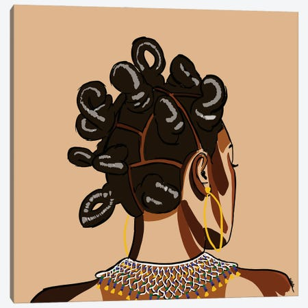 Black Hair Story - Bantu Knots Canvas Print #NRX46} by NoelleRx Canvas Print