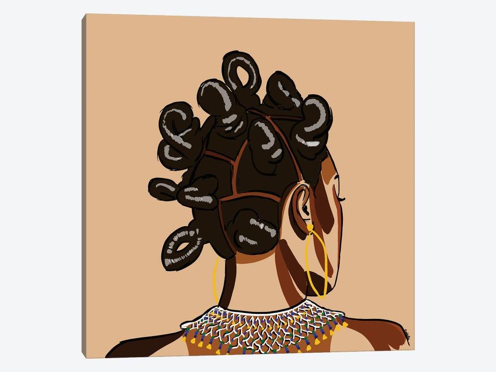 Black Hair Story - Bantu Knots by NoelleRx 1-piece Canvas Art Print