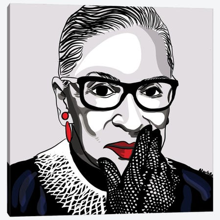The Notorious RBG Canvas Print #NRX4} by NoelleRx Canvas Artwork