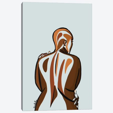 Love Your Curves II Canvas Print #NRX50} by NoelleRx Art Print