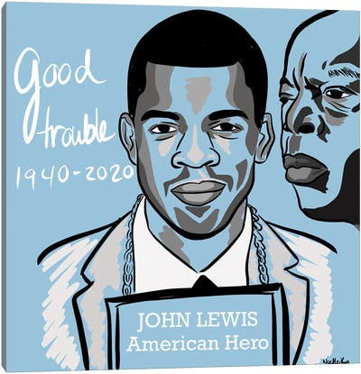 Good Trouble Canvas Art Print