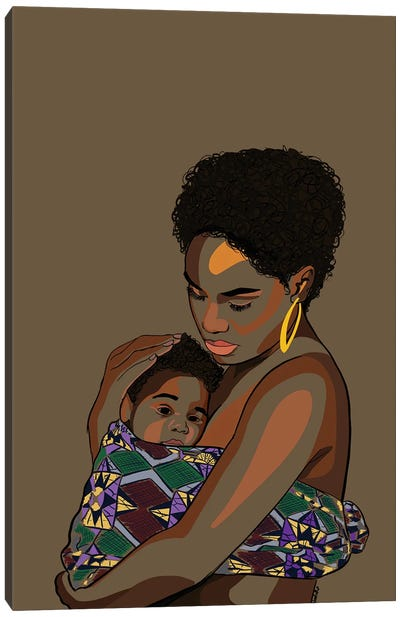 Wrapped Up In Love Canvas Art Print