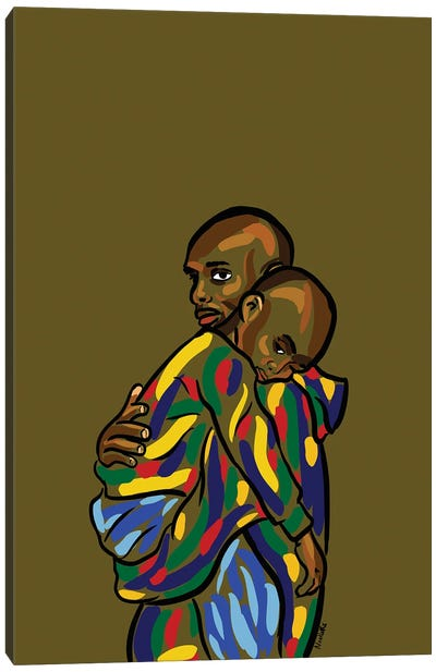 Daddy & Me I Canvas Art Print