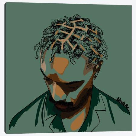 Black Men Are Magic Canvas Print #NRX98} by NoelleRx Art Print