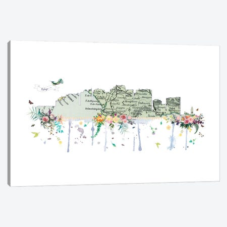 Malaga Collage Skyline Canvas Print #NRY100} by Natalie Ryan Canvas Print