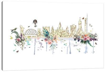 Glasgow Collage Skyline Canvas Art Print