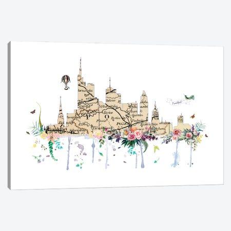 Frankfurt Collage Skyline Canvas Print #NRY105} by Natalie Ryan Canvas Art