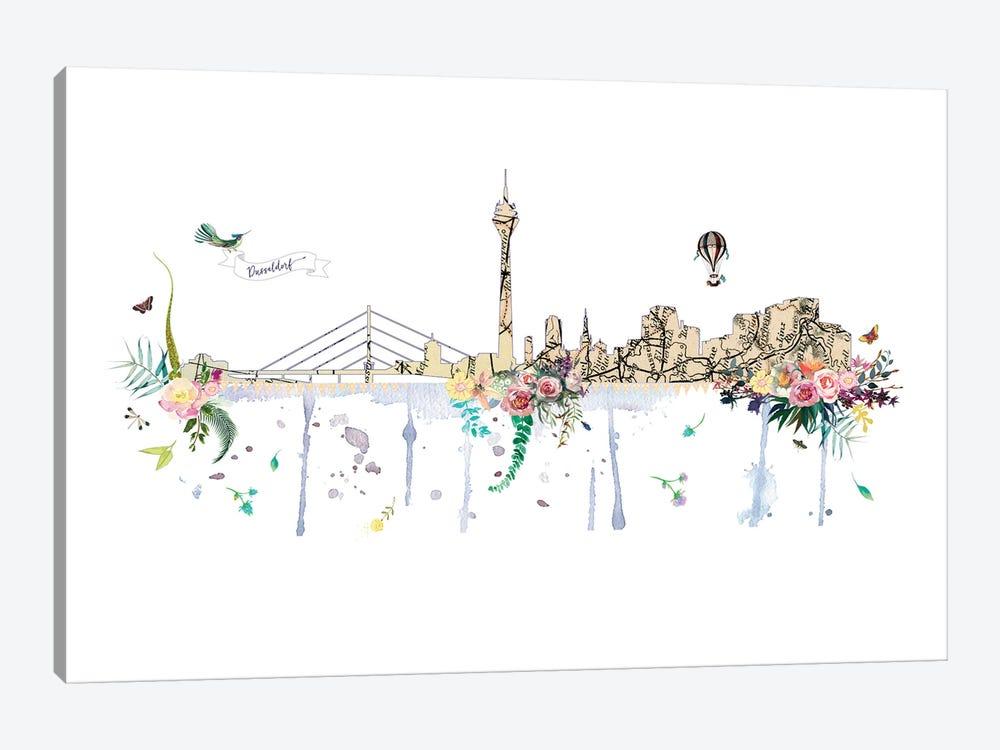 Dusseldorf Collage Skyline by Natalie Ryan 1-piece Canvas Art Print