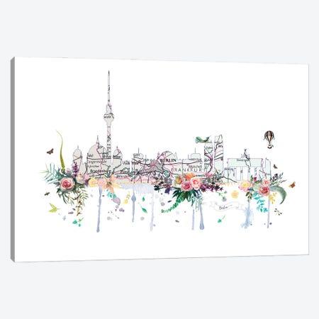 Berlin Collage Skyline Canvas Print #NRY118} by Natalie Ryan Canvas Art