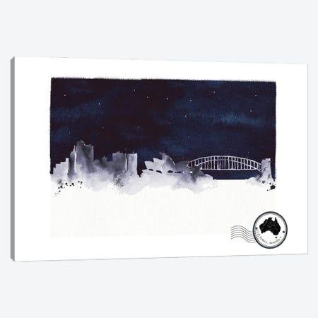 Sydney At Night Skyline Canvas Print #NRY123} by Natalie Ryan Canvas Print