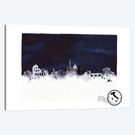 Rome At Night Skyline Canvas Print #NRY125} by Natalie Ryan Canvas Wall Art