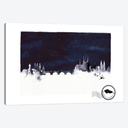 Prague At Night Skyline Canvas Print #NRY126} by Natalie Ryan Canvas Art