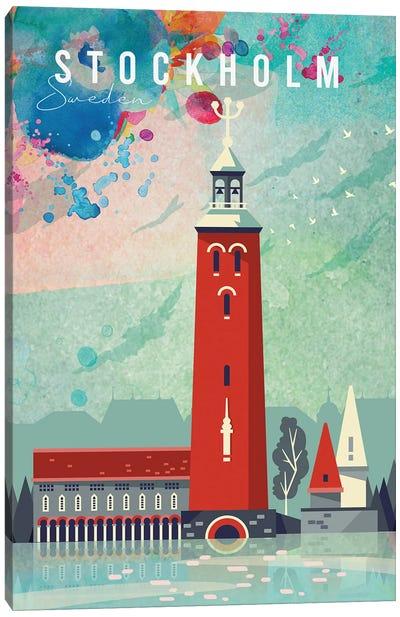 Stockholm Travel Poster Canvas Art Print