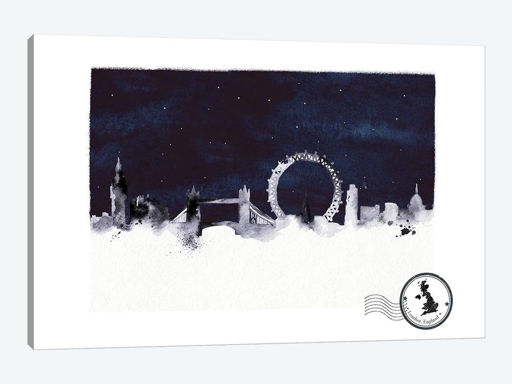 London At Night Skyline by Natalie Ryan 1-piece Canvas Art Print