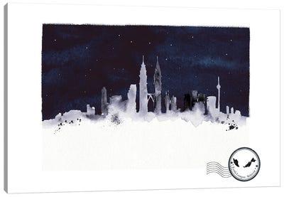 Kuala Lumpur At Night Skyline Canvas Art Print