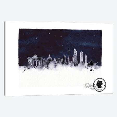 Berlin At Night Skyline Canvas Print #NRY132} by Natalie Ryan Canvas Art