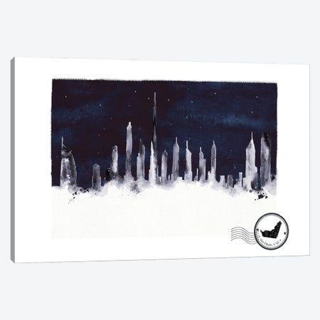 Abu Dhabi At Night Skyline Canvas Print #NRY134} by Natalie Ryan Art Print