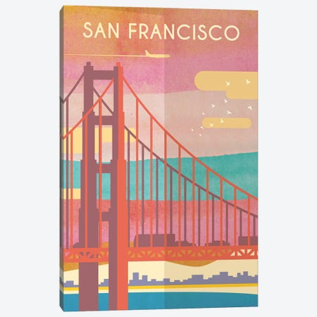 San Francisco Travel Poster Canvas Print #NRY13} by Natalie Ryan Canvas Art