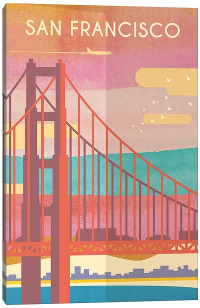 San Francisco Travel Poster Canvas Art Print
