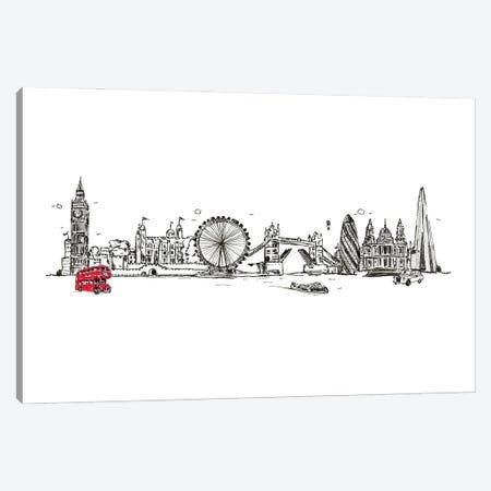 London Skyline Canvas Print #NRY148} by Natalie Ryan Canvas Print