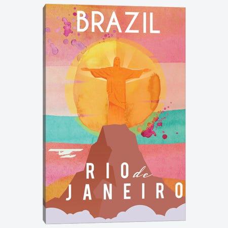 Brazil Travel Poster Canvas Print #NRY14} by Natalie Ryan Canvas Art Print