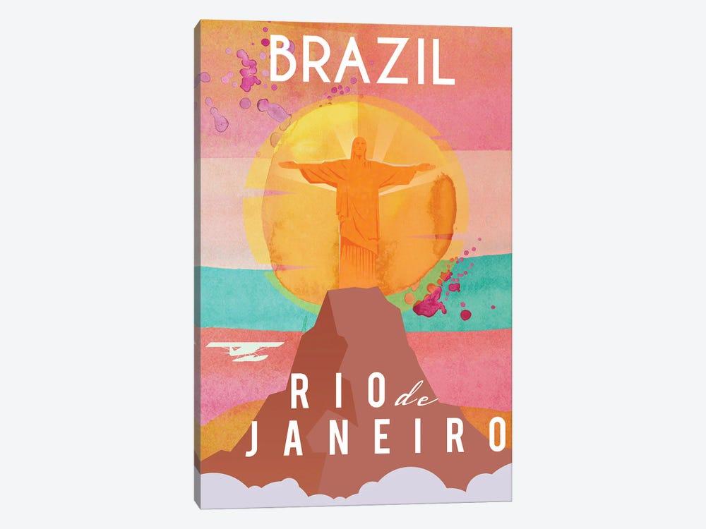 Brazil Travel Poster by Natalie Ryan 1-piece Canvas Art Print