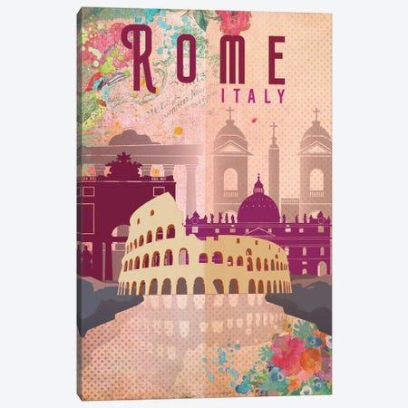 Rome Travel Poster Canvas Print #NRY16} by Natalie Ryan Canvas Art Print