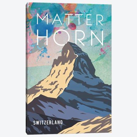 Matterhorn Travel Poster Canvas Print #NRY25} by Natalie Ryan Canvas Wall Art