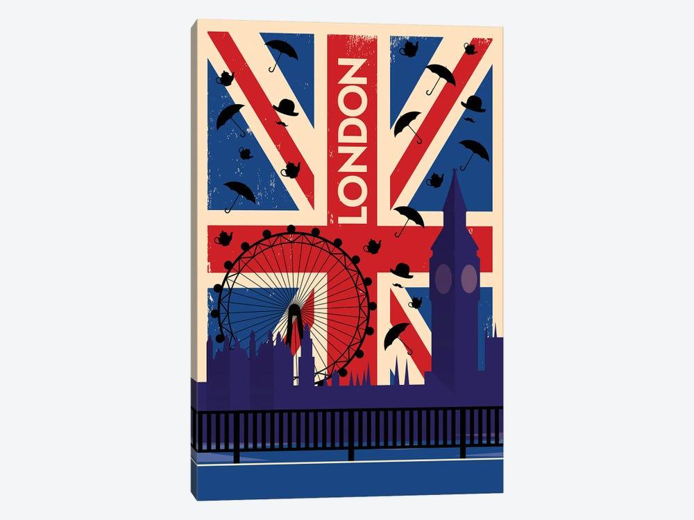 London Union Jack Travel Poster by Natalie Ryan 1-piece Art Print