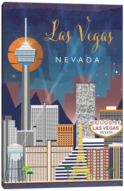 Las Vegas Travel Poster Canvas Art Print