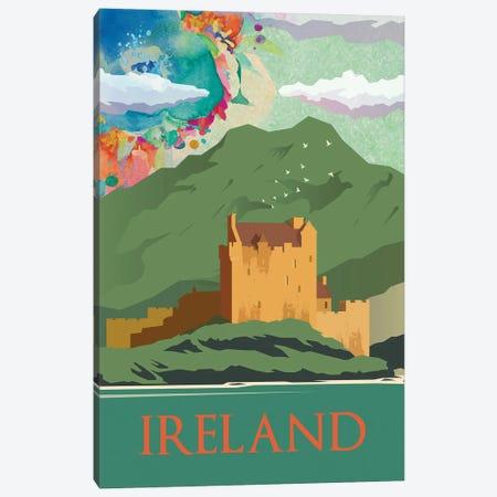 Ireland Green Mountain Travel Poster Canvas Print #NRY34} by Natalie Ryan Canvas Art Print