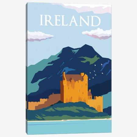 Ireland Blue Skies Travel Poster Canvas Print #NRY35} by Natalie Ryan Art Print