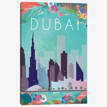 Dubai Travel Poster Canvas Print #NRY41} by Natalie Ryan Canvas Art Print