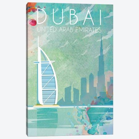 Dubai II Travel Poster Canvas Print #NRY42} by Natalie Ryan Canvas Print