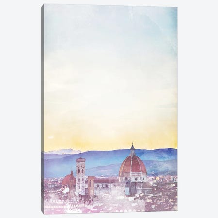 Florence Travel Poster Canvas Print #NRY44} by Natalie Ryan Canvas Art