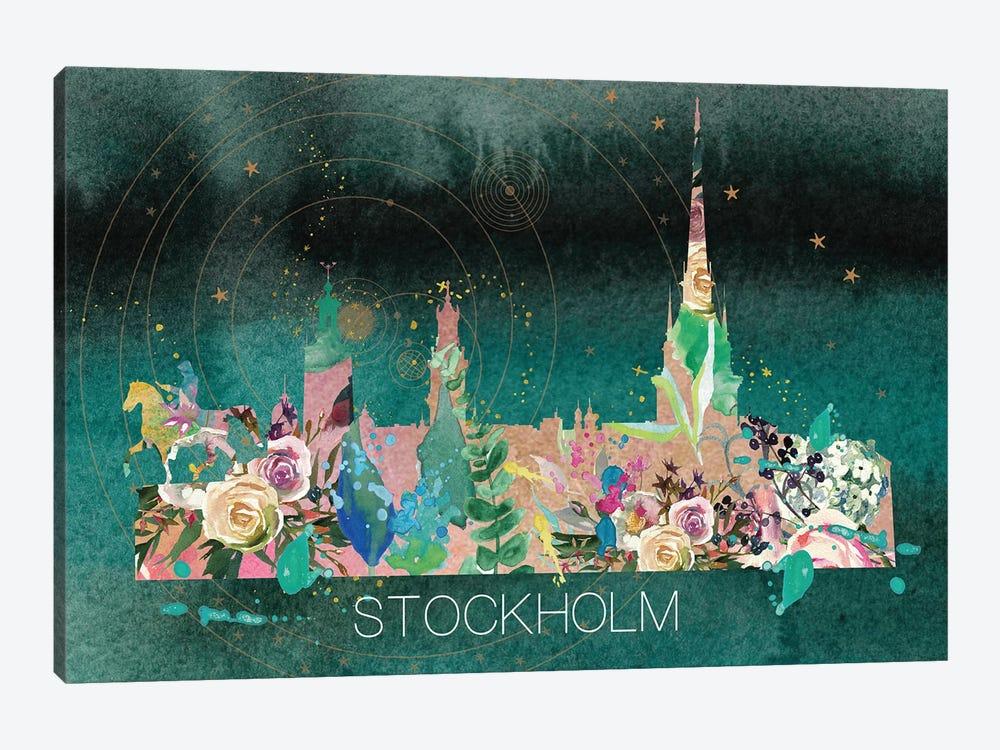 Stockholm Skyline by Natalie Ryan 1-piece Canvas Artwork