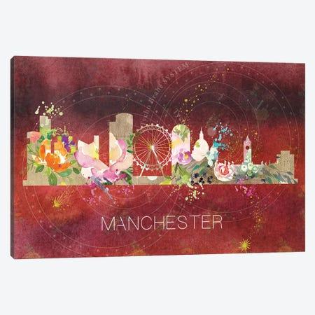 Manchester Skyline Canvas Print #NRY50} by Natalie Ryan Canvas Wall Art