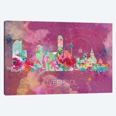 Liverpool Skyline Canvas Print #NRY51} by Natalie Ryan Canvas Artwork
