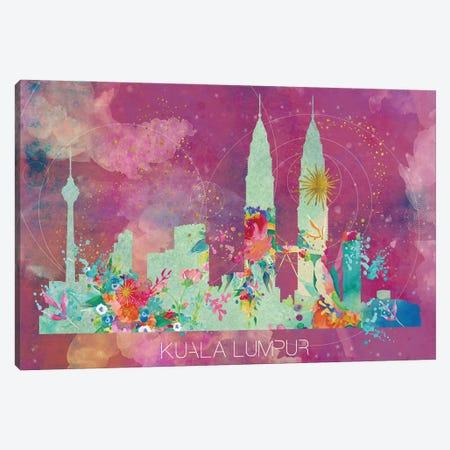 Kuala Lumpur Skyline Canvas Print #NRY55} by Natalie Ryan Art Print