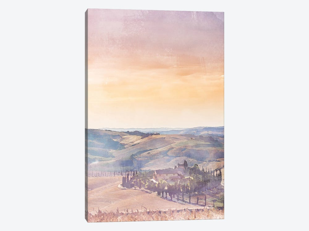 Tuscany Travel Poster by Natalie Ryan 1-piece Canvas Wall Art