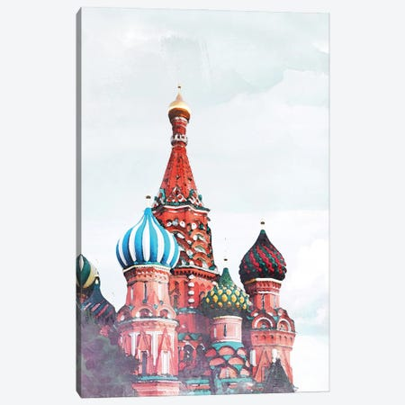 Russia Travel Poster Canvas Print #NRY61} by Natalie Ryan Canvas Art Print