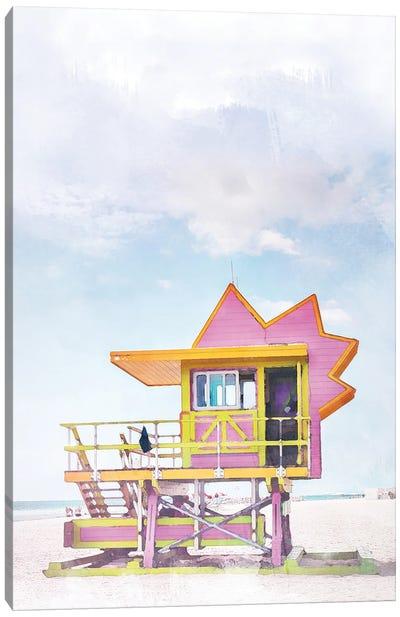 Miami Travel Poster Canvas Art Print