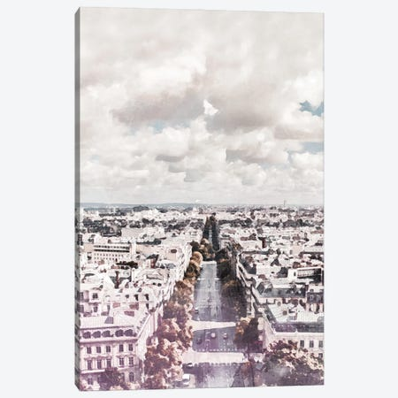 Paris City Travel Poster Canvas Print #NRY66} by Natalie Ryan Canvas Artwork